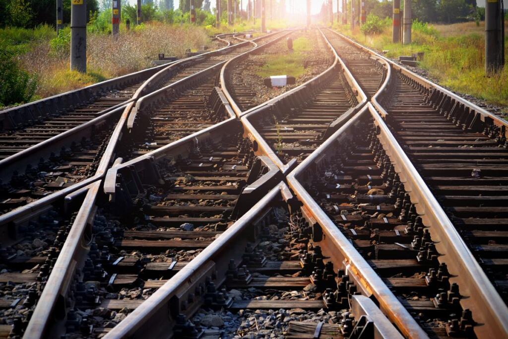 Un binario ferroviario