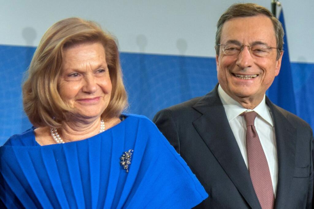 Mario Draghi e la moglie Serena Cappello