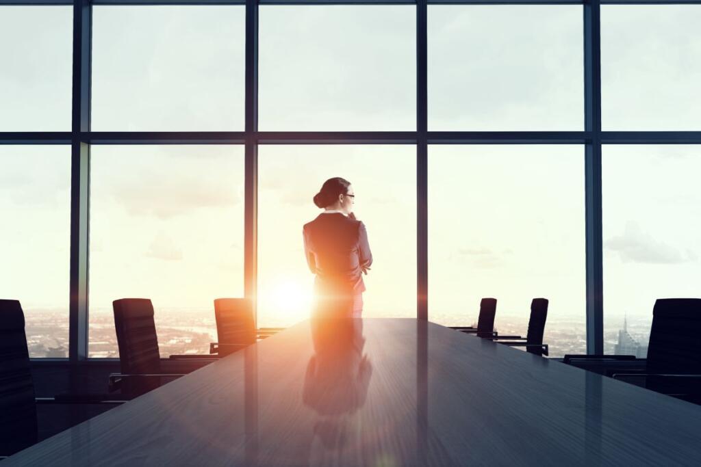 Una donna a capo di un'azienda
