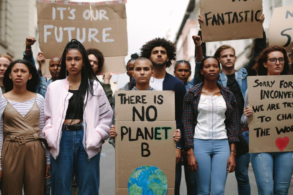 Giovani attivisti per il cambiamento climatico
