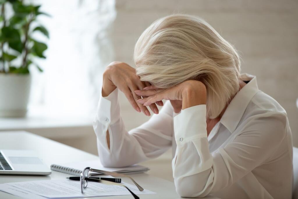 Una lavoratrice stanca
