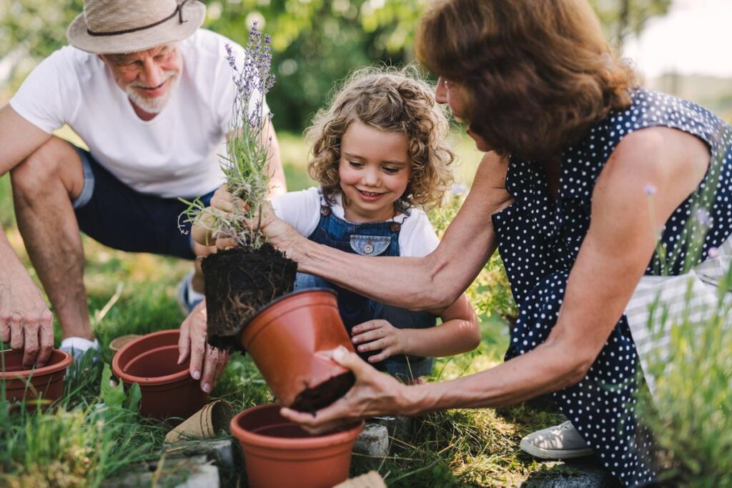 Giardinaggio in famiglia