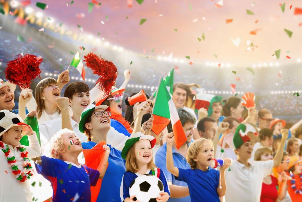 Sport italiano: giovani che fanno il tifo